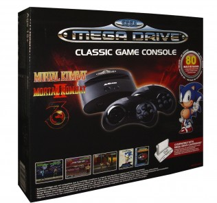 Sega Master Drive Genesis Console with Mortal Kombat and 80 built in games