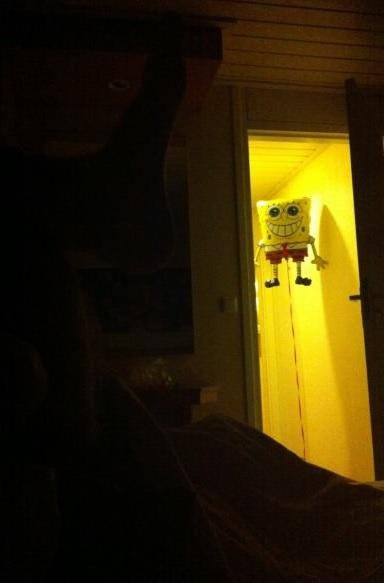 My sister got a spongebob balloon, I didn't get much sleep.
