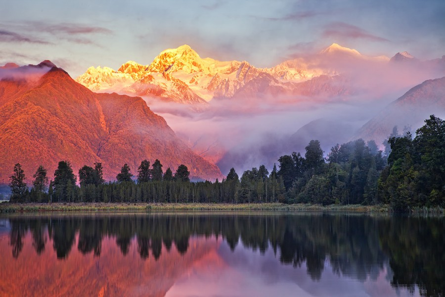 Lake Matheson, New Zealand [1050×700].
