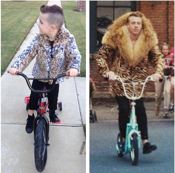 My nephew went as Macklemore for Halloween. It was a success.