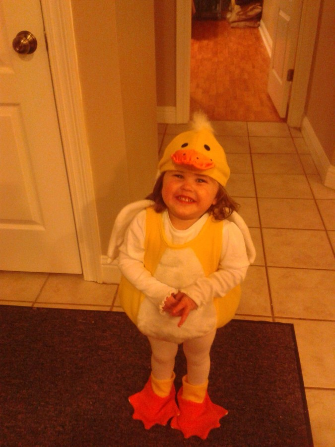 I think I have the cutest little duck. She even waddles.