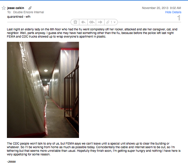"""Just got the best """"WFH"""" email from a coworker…"""
