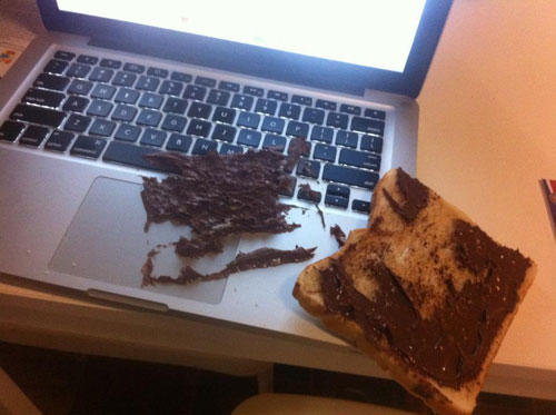 One of the things Nutella is not good on