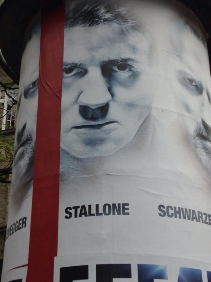 This movie poster makes Stallone look like Hitler