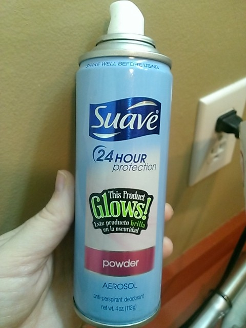 "My son put the sticker from his glow in the dark tshirt on my deodorant. I've spent the last five minutes trying to figure out why""glow in the dark deodorant"" is necessary. Lol"