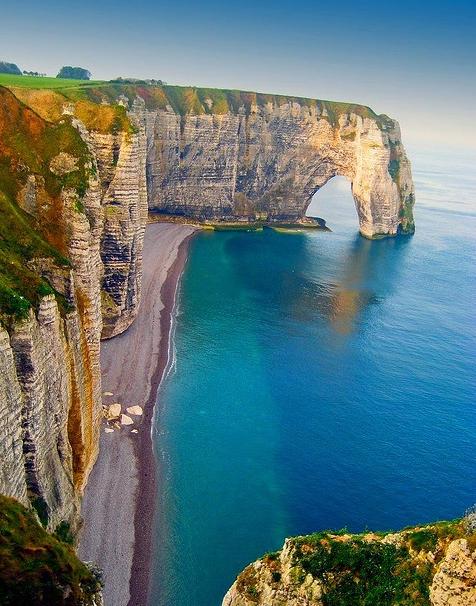 Sea Cliffs in Etretat, France [475×600]
