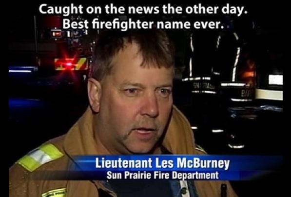 Best Firefighter Name Ever