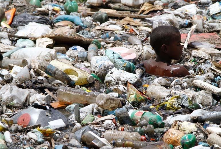 Brazilian garbage scavenger