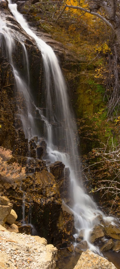 Waterfall Panorama – Washoe Valley, Nevada [OC] [916×2048]