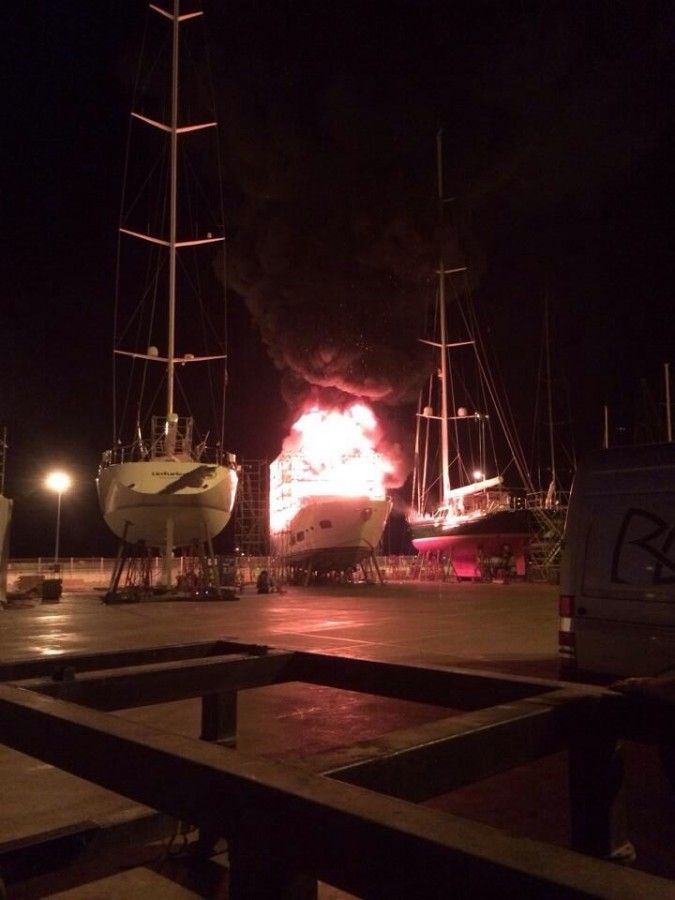 My friends boat blew up.