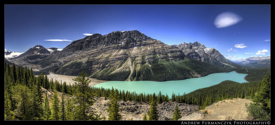 Pyto Lake, Canadian Rockies [2500×1136]