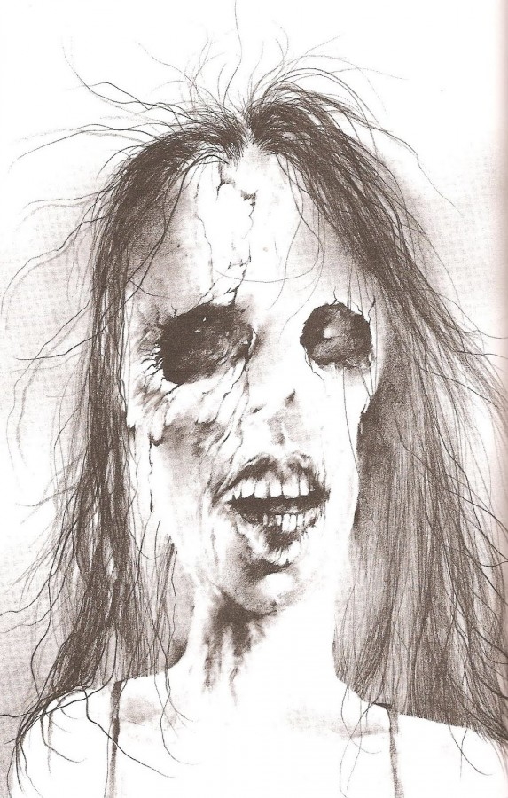 Always remember the original illustrations from Scary Stories to Tell in the Dark