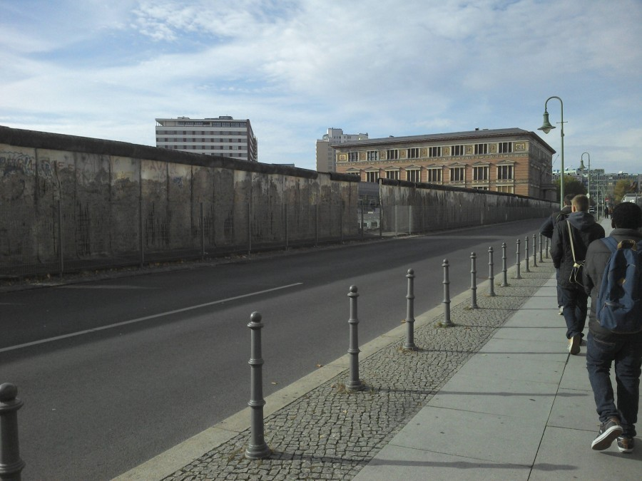 Can we all just take a moment to appreciate the Irony that the Berlin wall now has a fence to protect it