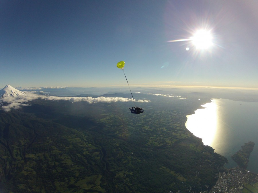 My brother throws people off his plane in Chili near Villarrica Volcano [2592×1944]