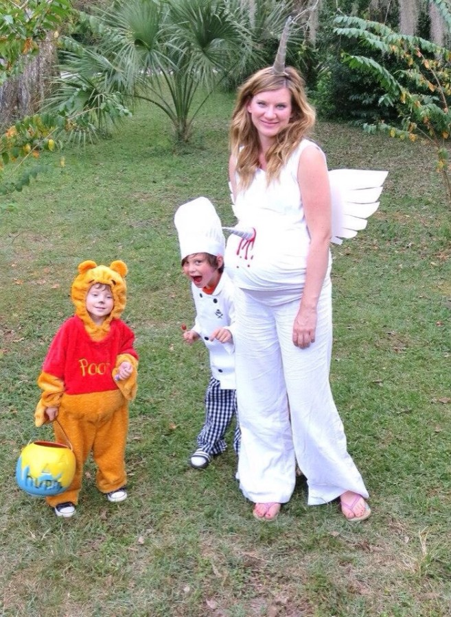 Just because you're not born yet doesn't mean Mom can't dress you up for Halloween!