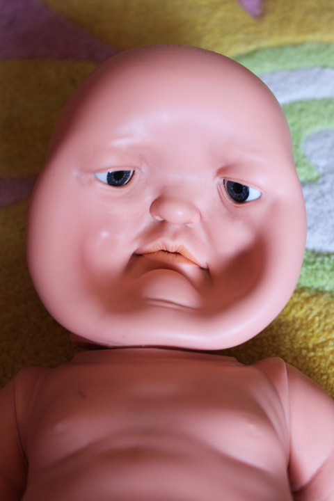 Accidentally stepped on my little sisters doll.