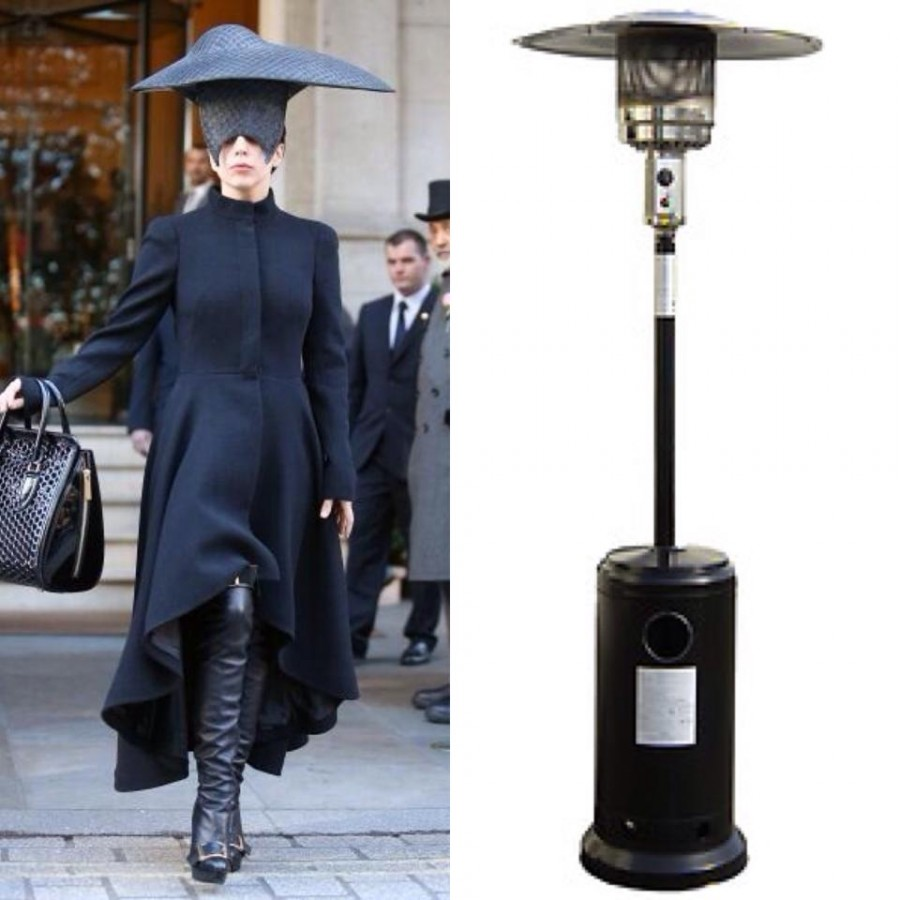 Who wore it better? Gaga vs Outdoor Heater.
