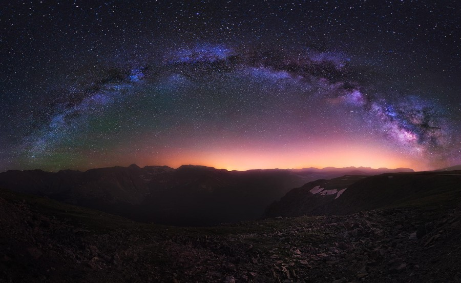 Milky Way over the Colorado Rocky Mountains [1630X1000]