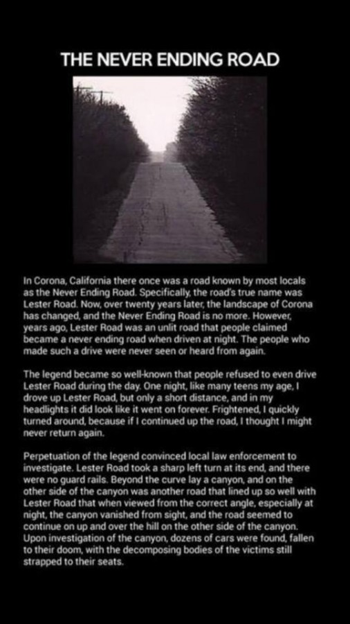 The never ending road…