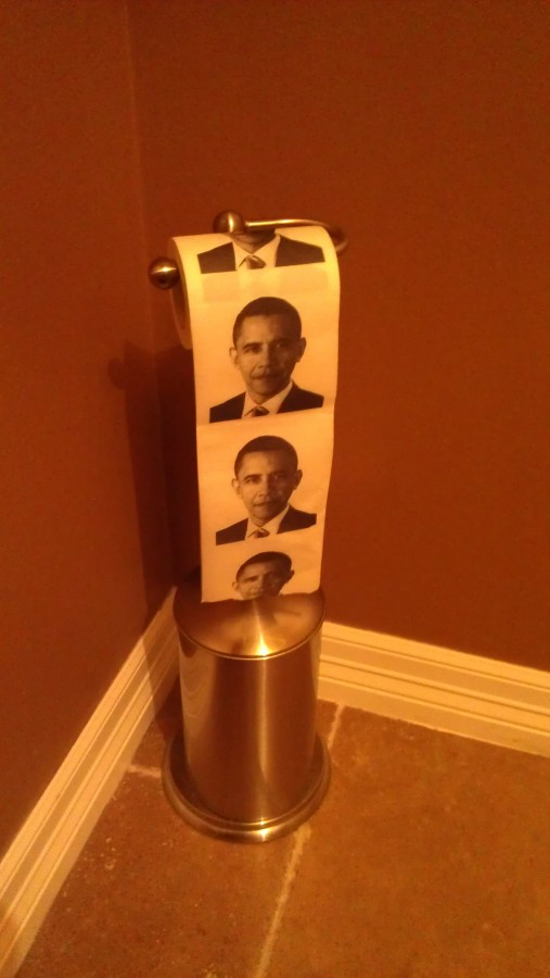 So I found this toilet paper at my local Christmas party