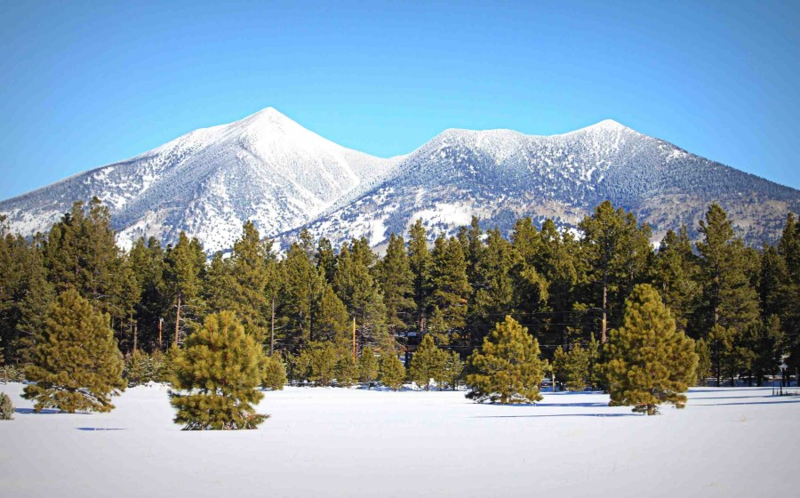 One of my favorite pictures of the San Francisco Peaks — the highest point in Arizona [2697×1680] [OC]