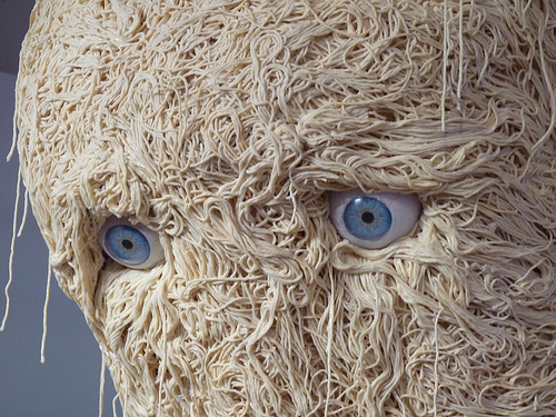 Noodle Man, a Sculpture