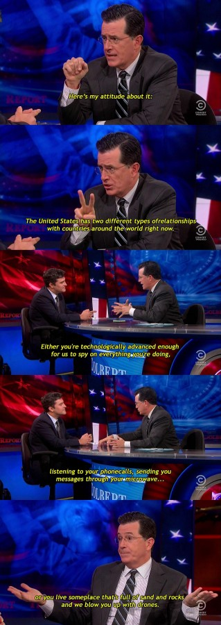 Colbert on U.S. relations with the rest of the world