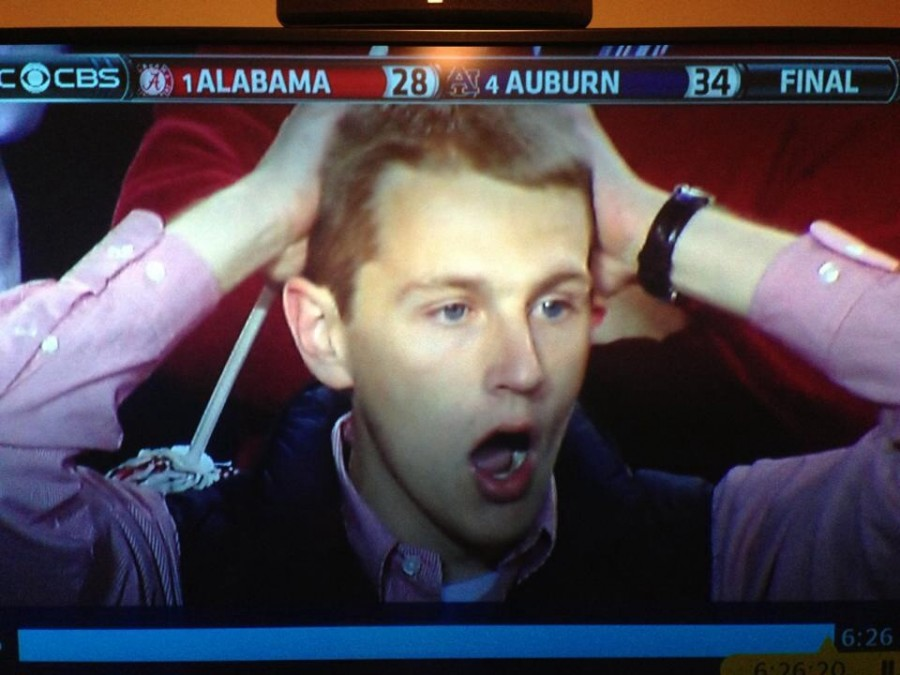 This picture pretty much sums up the end of the Auburn and Alabama game.
