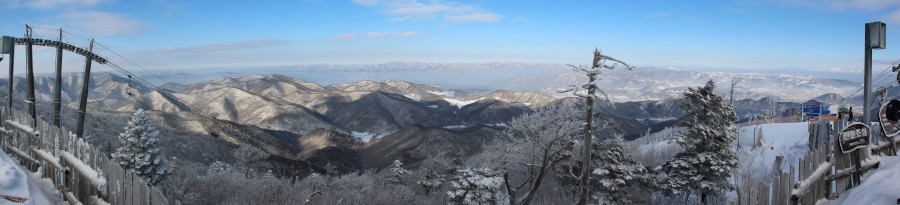 Daegwallyeong-myeon, South Korea (Panoramic) [14414×3292]