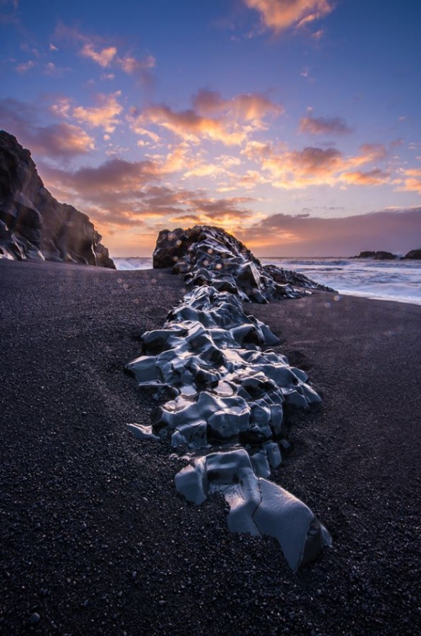 Rocky Outcropping on Black Sand Beach South of Vik, Iceland [636×900][OC]