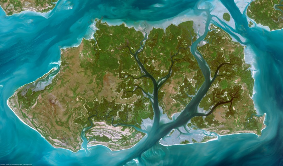 Satellite Image of Geba River Delta [3409×2000]