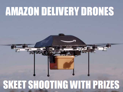 Amazon announced drones, my colleague says this…