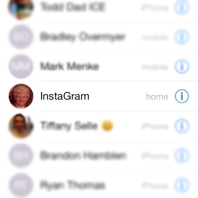 Put my grandma on speed dial.