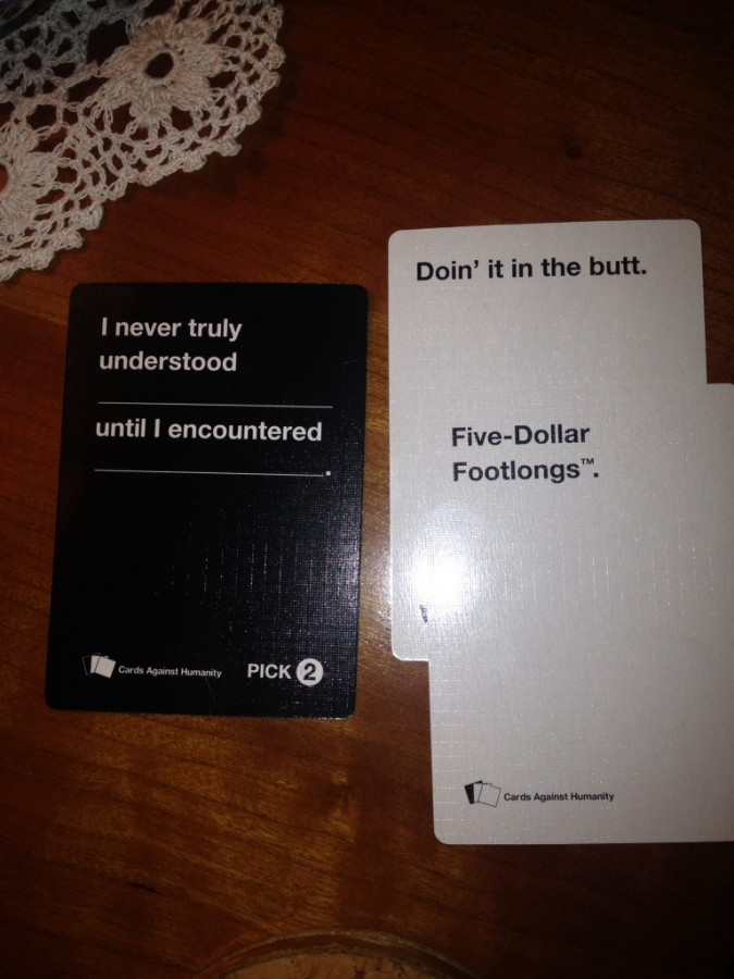 84 year old grandmother won Cards Against Humanity during family gathering