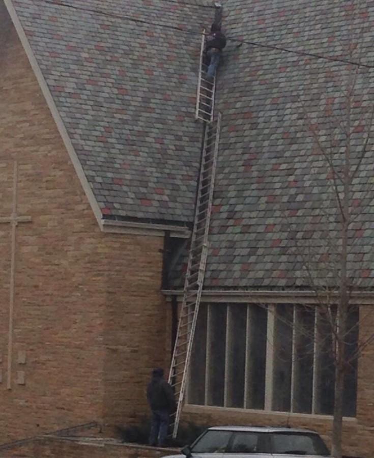 Now THAT'S faith. That building is a church…