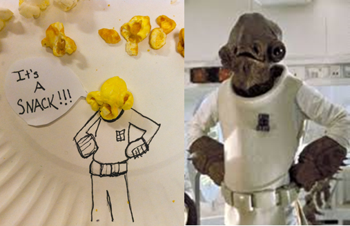 Was eating holiday popcorn when all of a sudden… Admiral Snackbar!