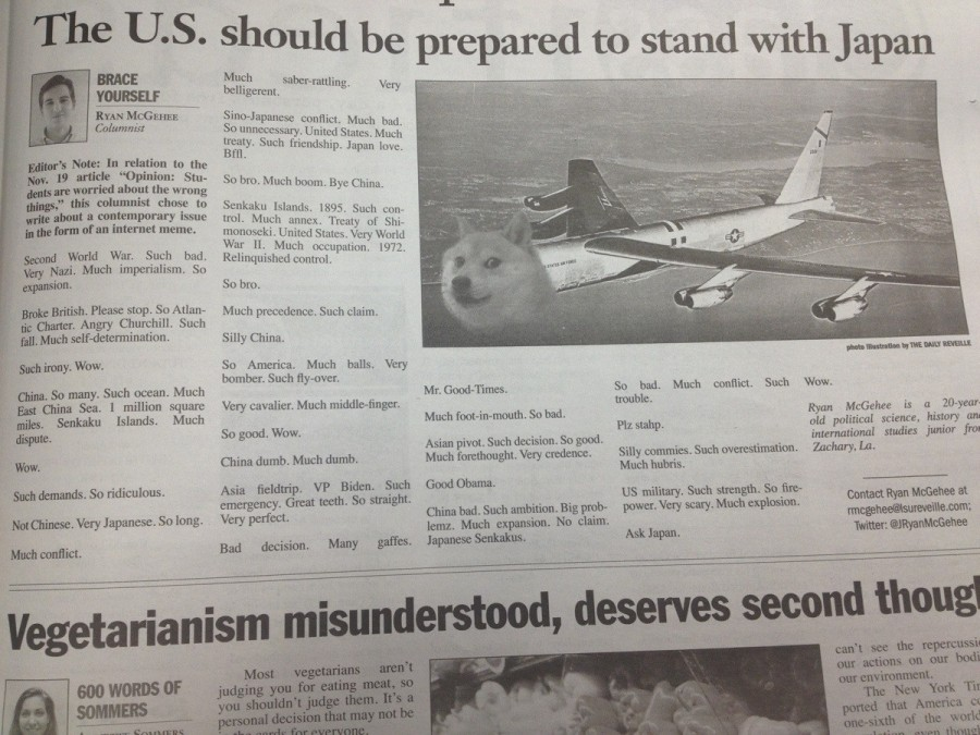 Found in the Louisiana State University student run newspaper. I hate people.