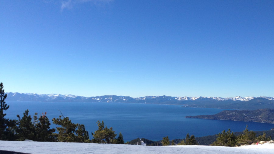 The view overlooking Lake Tahoe today! [1136×640][OC]