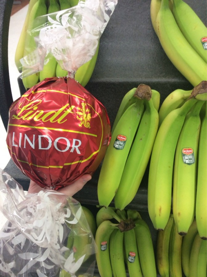 Giant Lindt Chocolate (banana for scale)