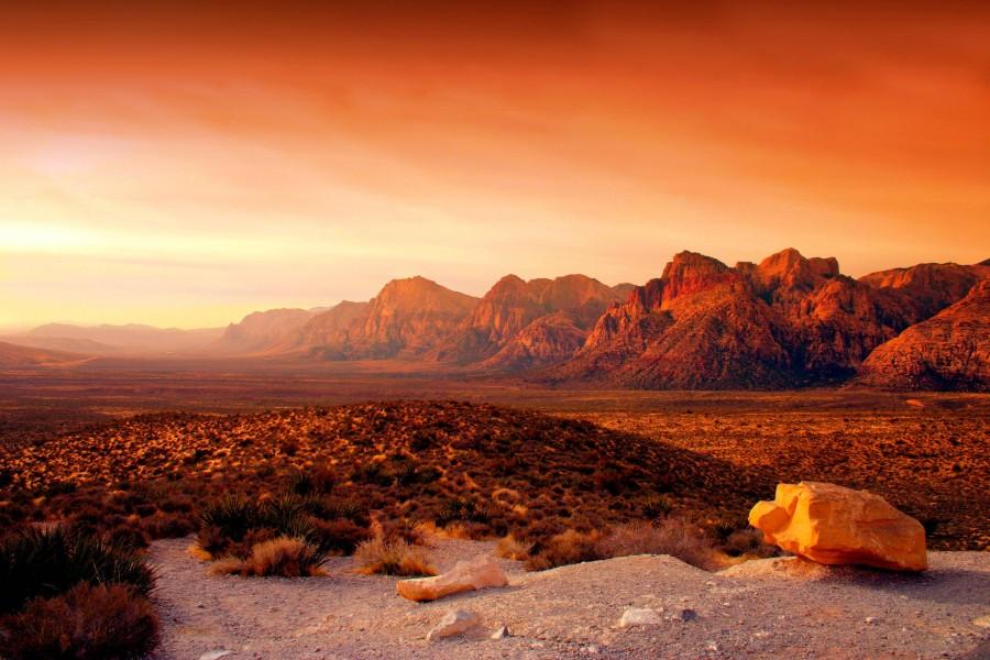 Red Life [6600×3640] USA,Nevada