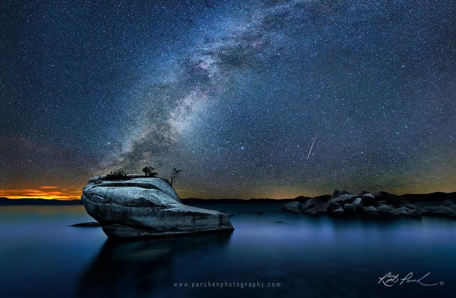 Milky Way over Bonsai Rock, Lake Tahoe [1500×981]