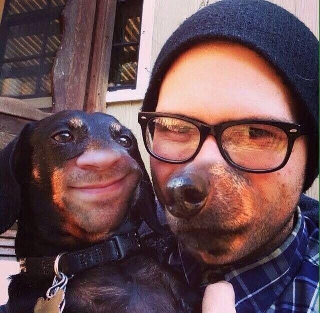 My friend also tried swapping faces with his dog.