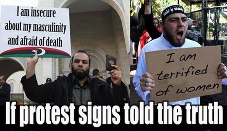 If protest signs told the truth