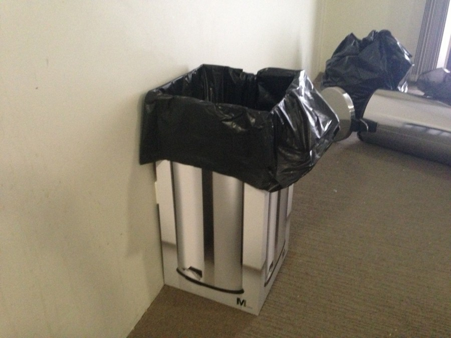 Roommate bought a new bin.