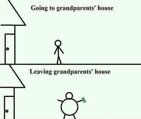 Why I like going to my grandparents