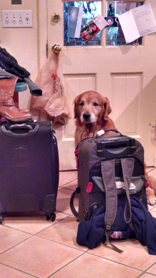 He thought he was coming with us.