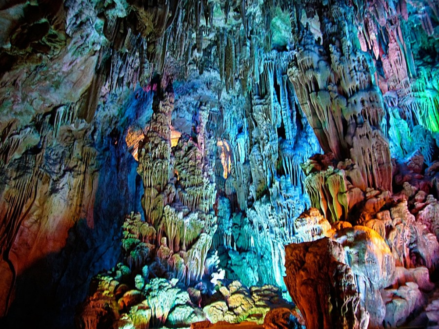 Reed Flute Cave, China. [1024×768]