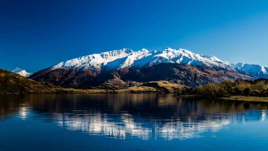 Lake Wanaka with Mount Alta as backdrop, NZ [1920×1080] [OC]