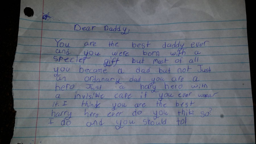 My 8 year-old adopted daughter just made this single dad cry big fat hairy tears