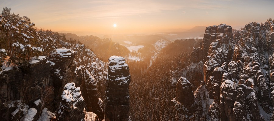 Winter in Saxon Switzerland [1000×444]